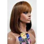 MD-SX-RAVEN: 100% HUMAN HAIR BLENDED WITH SYNTHETIC PAGE BOY WIG