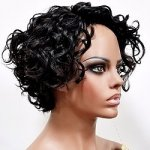 MD-LPW-173: LACE PART SHORT LOOSE WATER DEEP CURL WIG