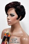 MD-BLAKE:SHORT UNBALANCED LOOSE WAVY J-TYPE SKIN WIG