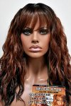 MD-SMC-IRIA: MONO CROWN LONG LOOSE BEACH WAVE WITH BANGS WIG
