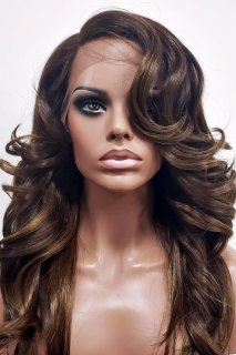 MD-SLF-DYLAN: SWISS LACE FRONT SIDE PART LONG LOOSE WIG