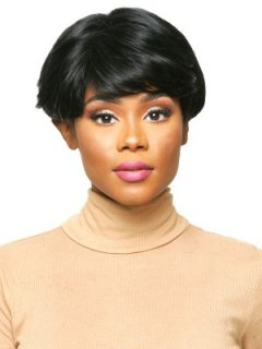 CHO-ECO-105: ECO QUALITY HUMAN HAIR BLENDED SHORT WIG