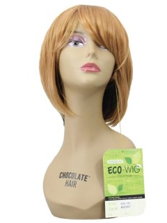 CHO-ECO-101: ECO QUALITY HUMAN HAIR BLENDED SHORT WIG