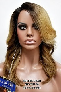 MD-SX- TULIA: 100% HUMAN HAIR BLENDED FIBER WIG