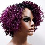 MD-LPW-121: LACE PART MEDIUM LENGTH JERRY CURL WIG