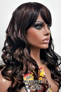 MD-SS-EMILA: LONG LIGHT ROMANCE CURL FULL WIG