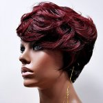 MD-FEATHER: QUALITY SHORT WAVY BOY CUT WITH SIDE SWEPT BANGS WIG