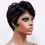 MD-LPW-144: LACE PART SHORT LOOSE CURL BOY CUT STYLE WIG